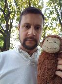 Lost Toy monkey on 09 Jan. 2019 @ Eastleigh Southampton UK